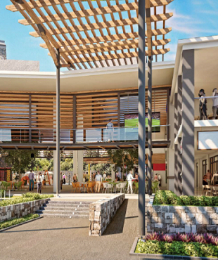 Uplift of Cascavelle Shopping Village's foodcourt